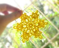 crochet手工钩针棉线星星挂饰吊饰<a href='http://dragontodesign.taobao.com/' target='_blank'>http://dragontodesign.taobao.com/</a>