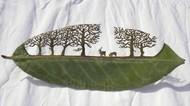 神人級的樹葉雕刻藝術