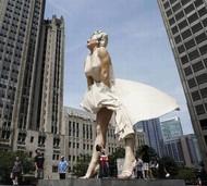 芝加哥的玛丽莲梦露雕像