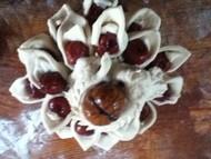 老妈做的莲花馒头,