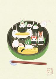 周末也要记得起床吃早晨,日本插画师:shiira