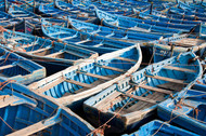 Photograph Blue boats by Martin Cauchon