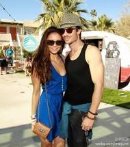 Ian和Nina,有爱有爱~! Burton Snowboards pool party,4月14日加州棕榈泉。