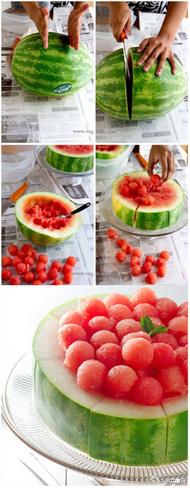 完美主义者是这样吃西瓜的!你怎么吃的?