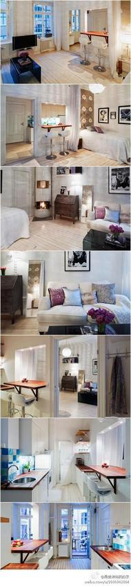 39平米超小单身公寓, 混搭和复古的典雅味道演绎不同凡响的时尚气质~幸福不是奢华,而是两个人相依在这小家,过着平静而温馨的生活。