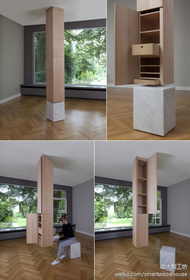 """柱子就建筑的基本组成元素,那么柜子呢?这是sophie mensen的概念家具作品,名字为""""COLUMN(柱子)""""。"""