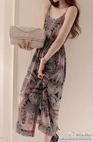 波西米亚长裙,夏天必备哦。