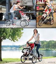 【折叠脚踏车与折叠婴儿车的合体】这个设计真的很赞,真想拥有一辆!宝宝们肯定也超喜欢!!