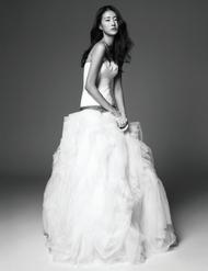 长尾黑白韩式婚纱照1