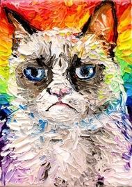 来自艺术家Aja ApaSoura 的坏脾气的猫猫