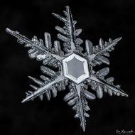 如水晶般晶莹剔透的雪花,摄影Don Komarechka