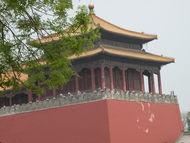 古代红色高墙