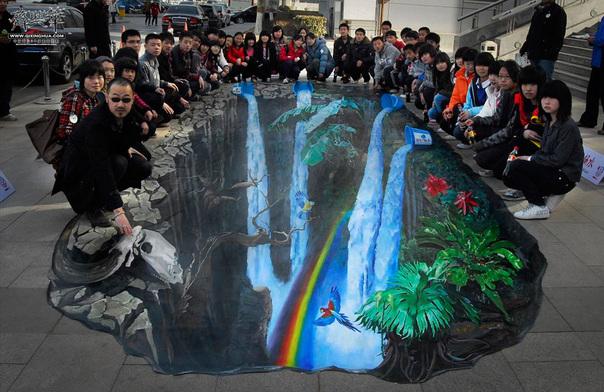 3D画,3D Painting,3D地画,3D壁画,街头地画,3D立体画,魔幻3D画,3D手绘,齐兴华,3D立体地画,3D立体壁画,街头地画,城市立体画,3D墙地立体画,